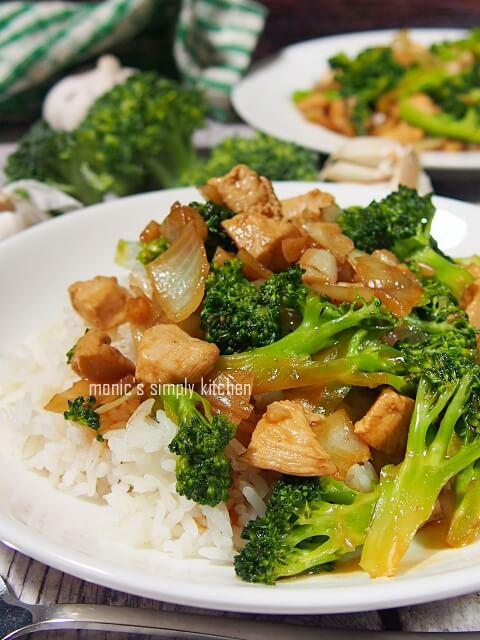 resep ayam cah brokoli