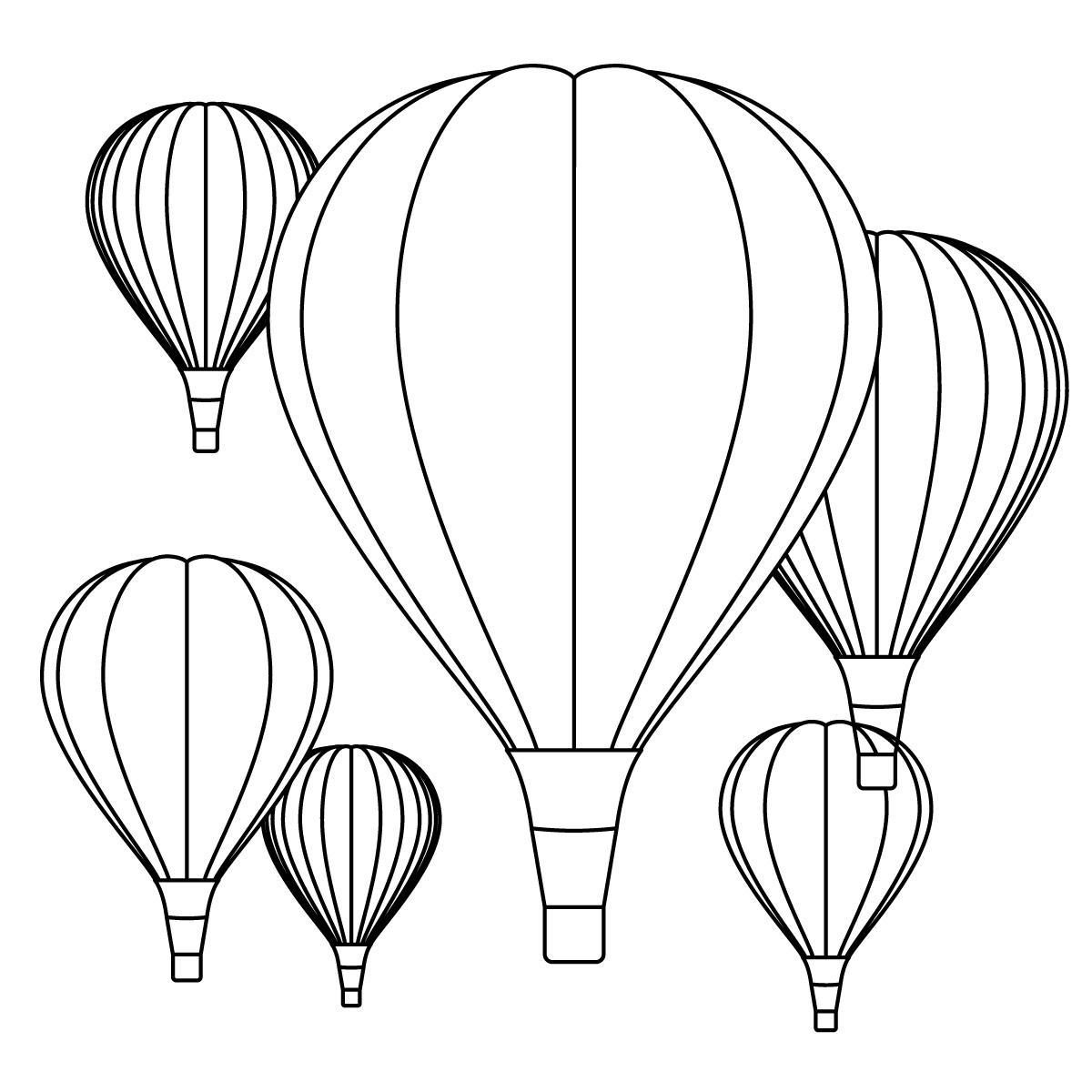 Neon Striped Hot Air Balloon - Free Clip Art | Dibujo de globo aerostatico,  Pintura de globo, Dibujos de globos