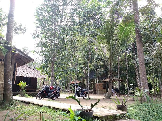 Pelataran dan suasana warung Kopi badhek Borobudur