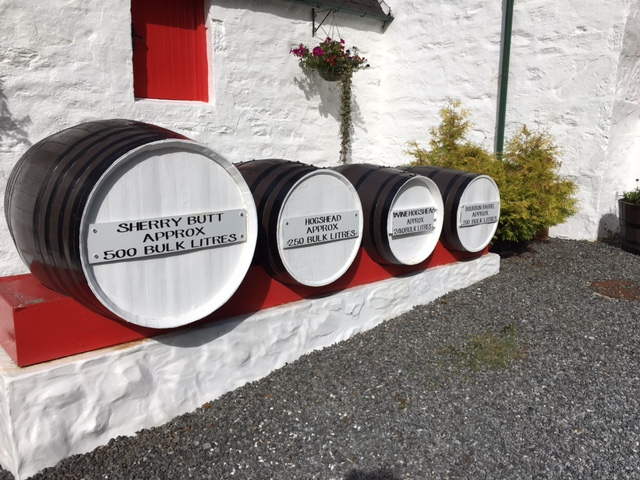 Edradour distillery barrels
