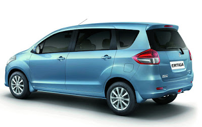 Maruti Suzuki Ertiga left side rear view three qaurter image