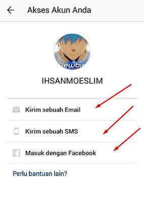 Cara Mengatur Reset Password Instagram