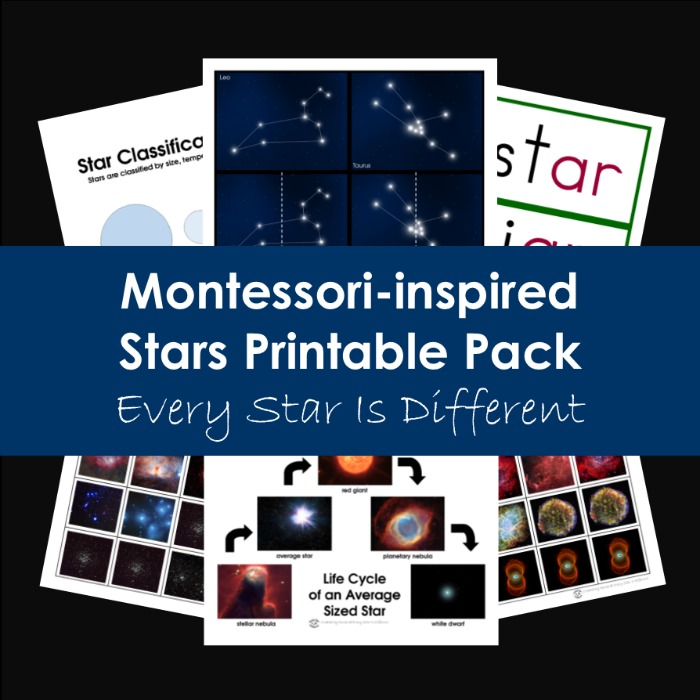 Montessori-inspired Stars Printable Pack