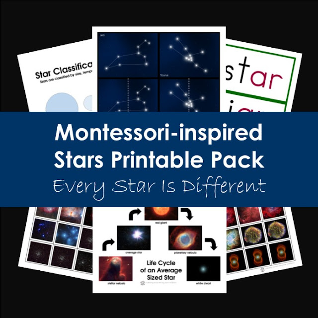 Montessori-inspired Stars Printable Pack