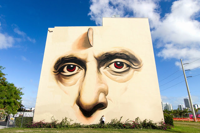 """In Heaven With You"" New Street Art Mural By Greek Artist iNO in Wynwood, Miami. 1"