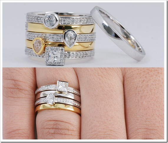 best ring and stacked engagement rings bands stack wedding