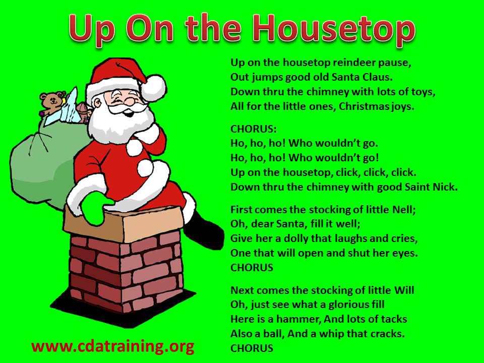 Child Care Basics Resource Blog: Up On the Housetop