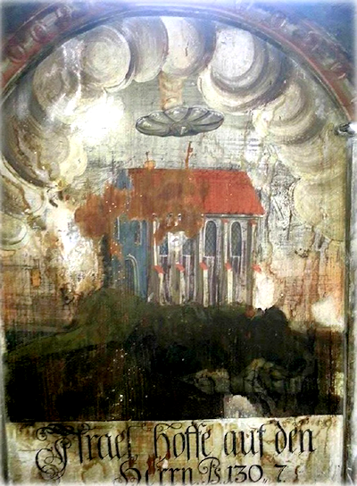 Painting of UFO From Church in Transylvania