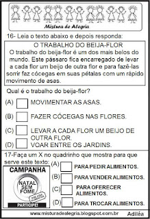Simulado português para 1º ano alfabetização