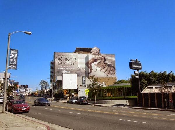Giant Da Vincis Demons season 2 billboard Sunset Strip