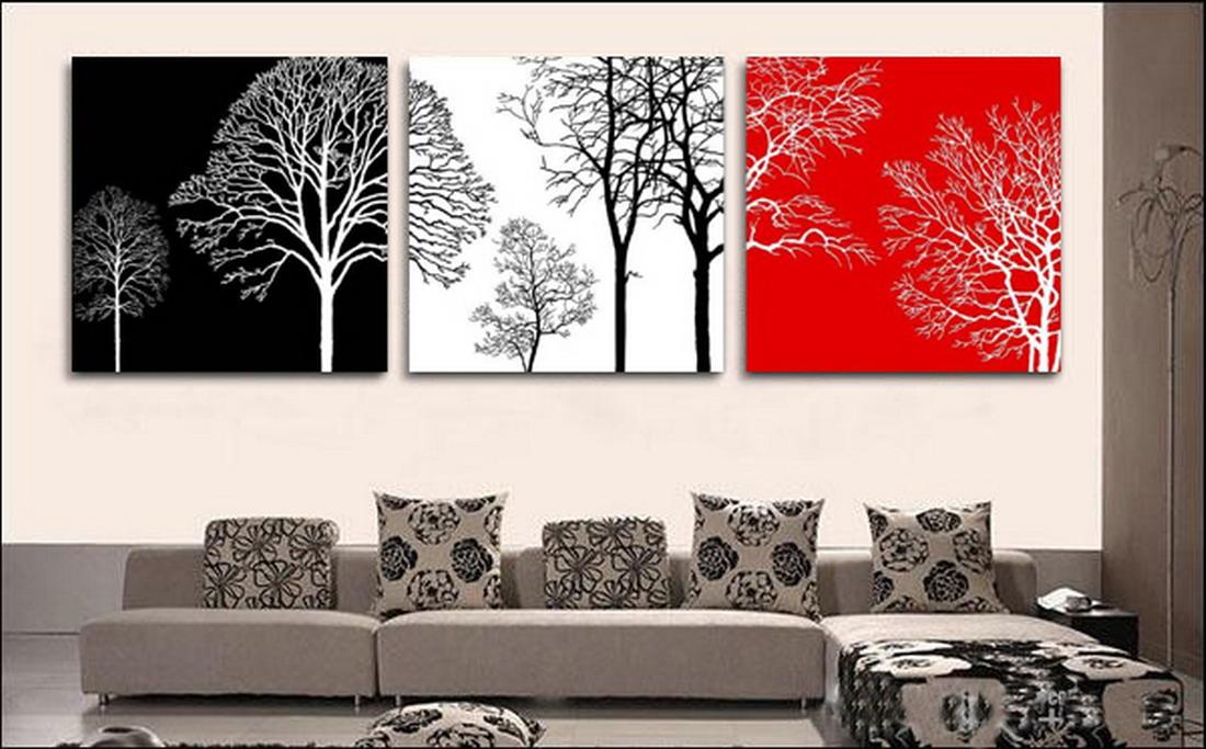 Cuadros modernos pinturas y dibujos 7 consejos para - Cuadros murales para pared ...
