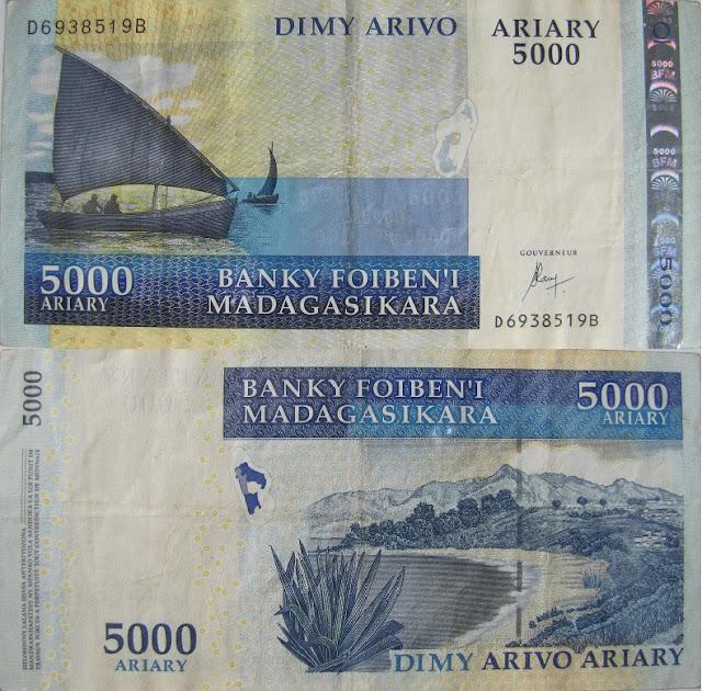 5000 ariary madagascar money