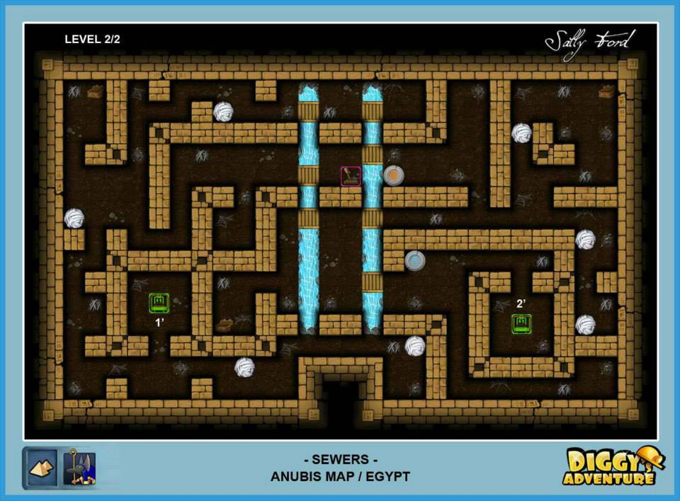 Diggy's Adventure Walkthrough: Anubis Egypt Quests / Sewers