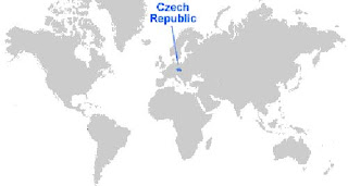 Gambar Peta letak Ceko