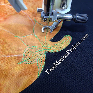 quilting pumpkin | machine quilting