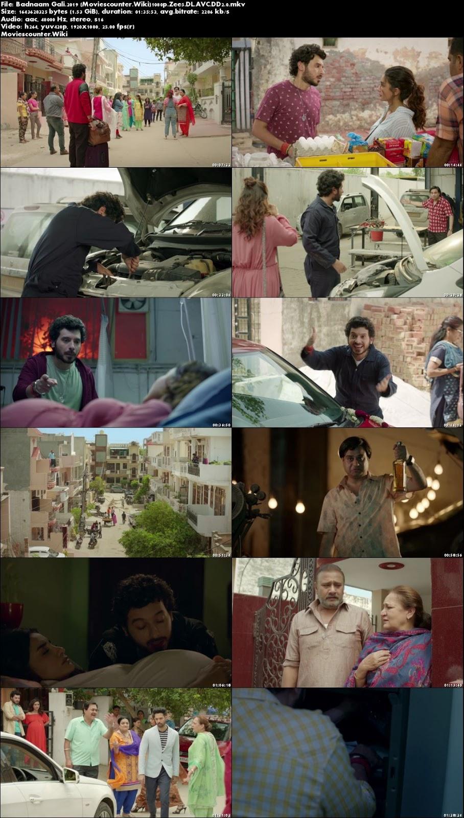 Screen Shots Badnaam Gali 2019 Hindi HD 1080p
