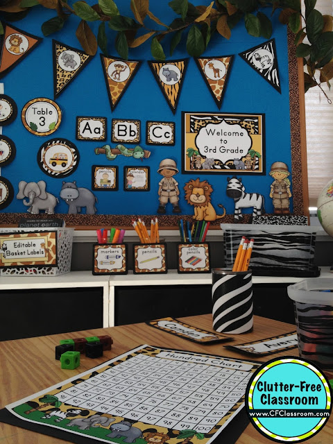 Classroom Decor Jungle ~ Jungle safari themed classroom ideas printable