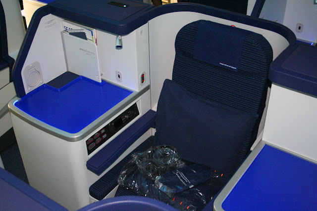Business-class seat aboard ANA Boeing 787 Dreamliner