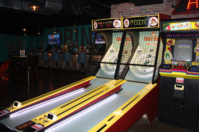 Skeeball action at Punch Bowl Social