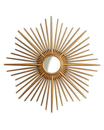 Copy Cat Chic Horchow Golden Sunburst Mirror