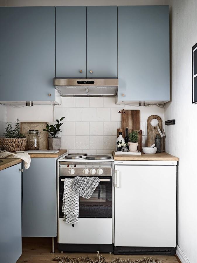 Una pequeña cocina bien aprovechada