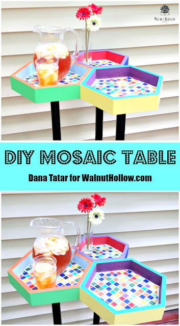 DIY Mosaic Table by Dana Tatar for Walnut Hollow