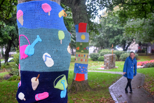 #RoaldDahl100, yarn bomb, Haverfordwest Yarn Bombers, Milford Haven, Pembrokeshire, Roald Dahl,