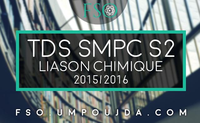 SMPC S2 : TDs Corrigés Liaison Chimique 2015/2016