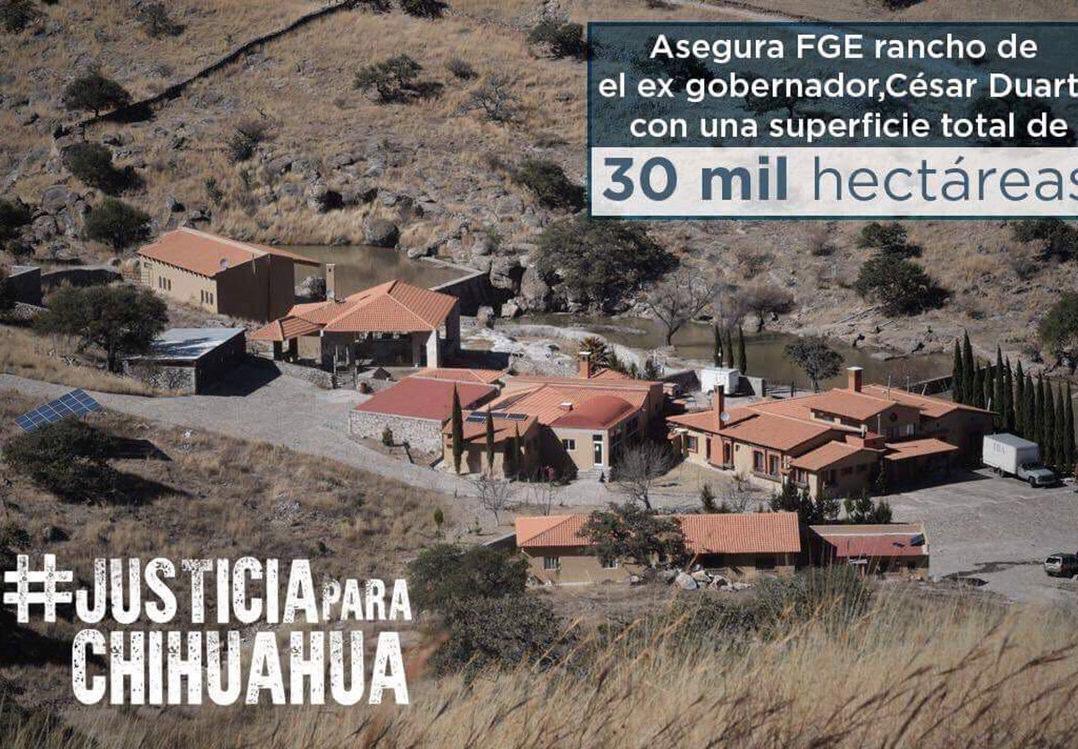 La Fiscalía de Chihuahua asegura rancho de 30 mil hectáreas a César Duarte
