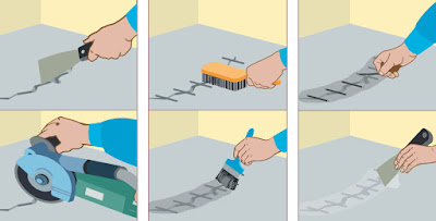 Как заделать трещину в бетонном полу