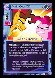 My Little Pony Multi-Goof Off! The Crystal Games CCG Card