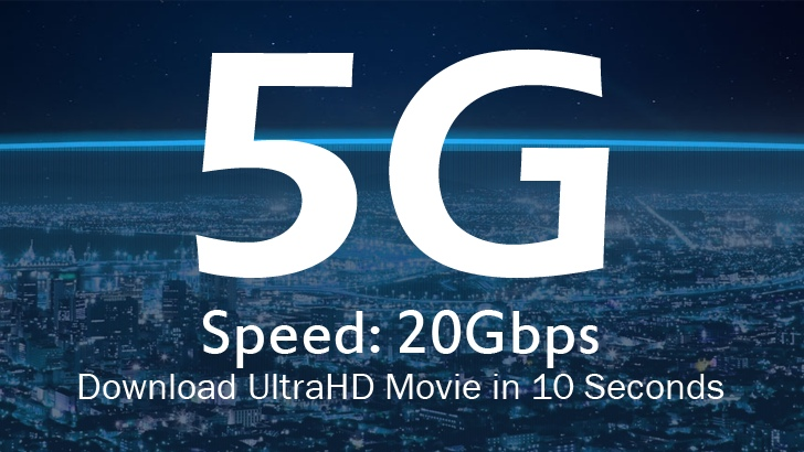 5G Mobile Networks to Offer Speed Up To 20Gbps
