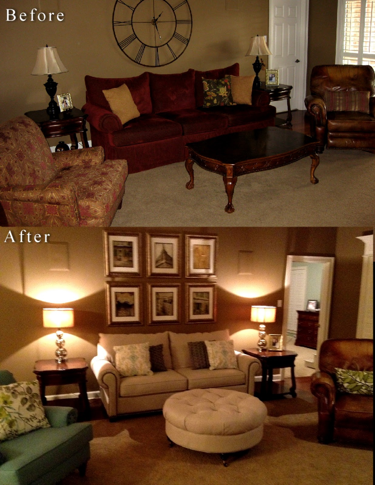 alamode: Horton Living Room- EDesign Before and After