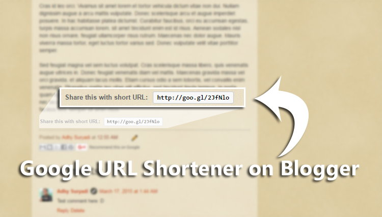 Alternative Lain Membuat Google URL Shortener
