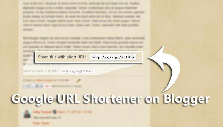 Alternative Lain Membuat Google URL Shortener