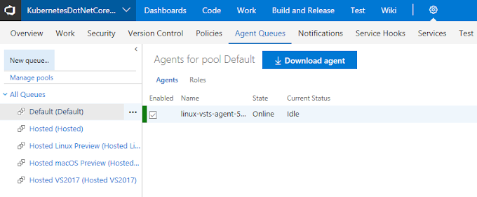 Host your Private VSTS Linux Agent on Azure Kubernetes Service