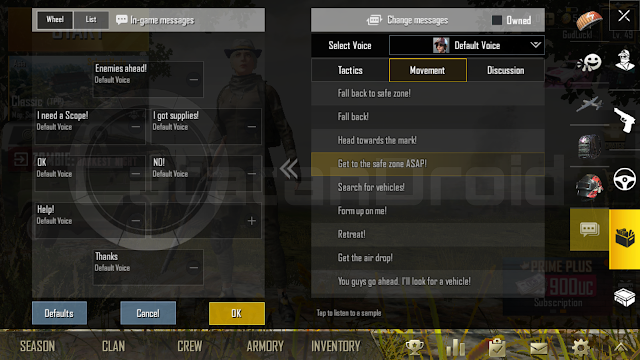 Cara Ubah Percakapan Quick Chat PUBG Mobile