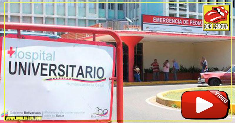Área de Pediatría del Clínico Universitario continúa sin luz y con niños padeciendo