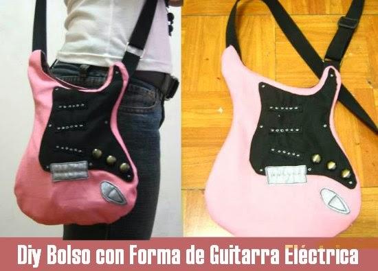 coser un bolso con forma de guitarra
