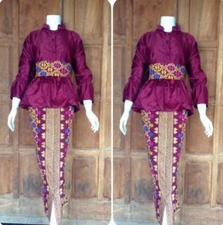 rok batik span belah depan
