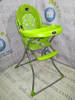 samping pliko hc10 green kursi makan bayi