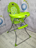 Pliko HC10 Baby High Chair Green
