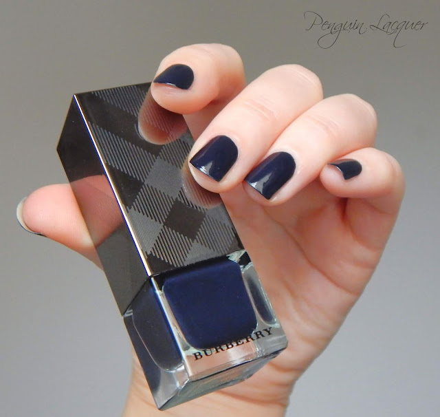 burberry nail polish ink blue