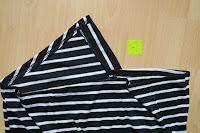 unten: AIYUE Frauen Monochrom Streifen mit kurzen Hülsen Etuikleid Figurbetontes Kleid Partykleid Clubwear