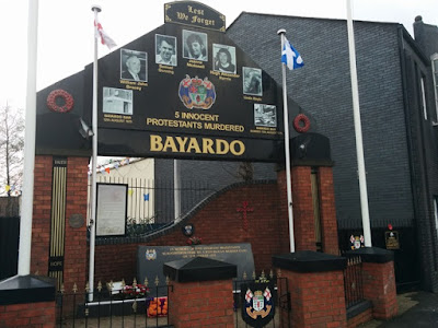 Memorial zona protestantes Belfast