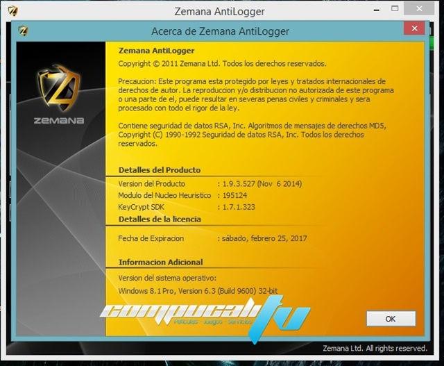 Zemana AntiLogger Version 1.9.3 Español
