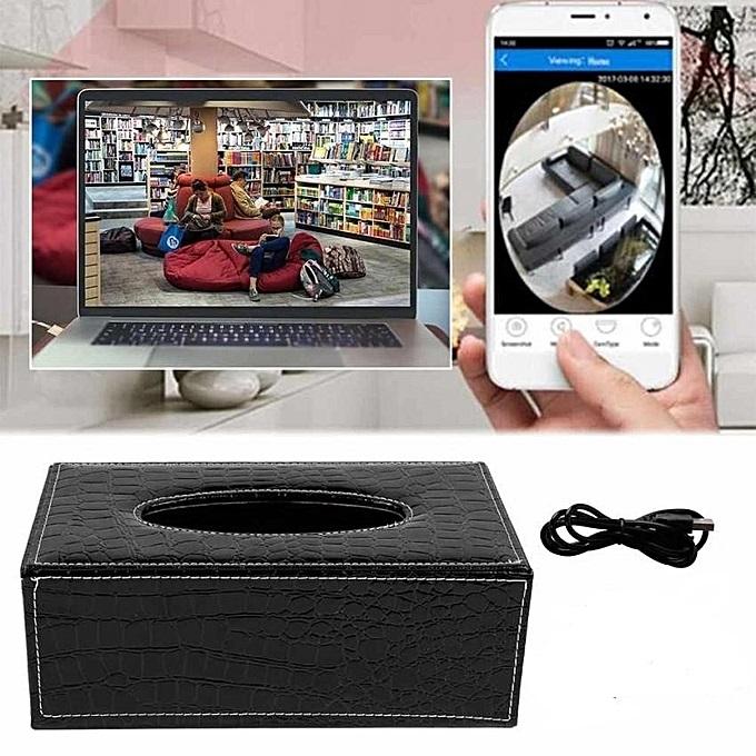 Boite à mouchoirs avec caméra espion Full HD 1080P Wifi