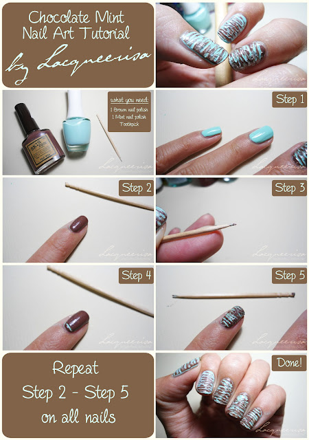 Chocolate Mint Manicure Tutorial