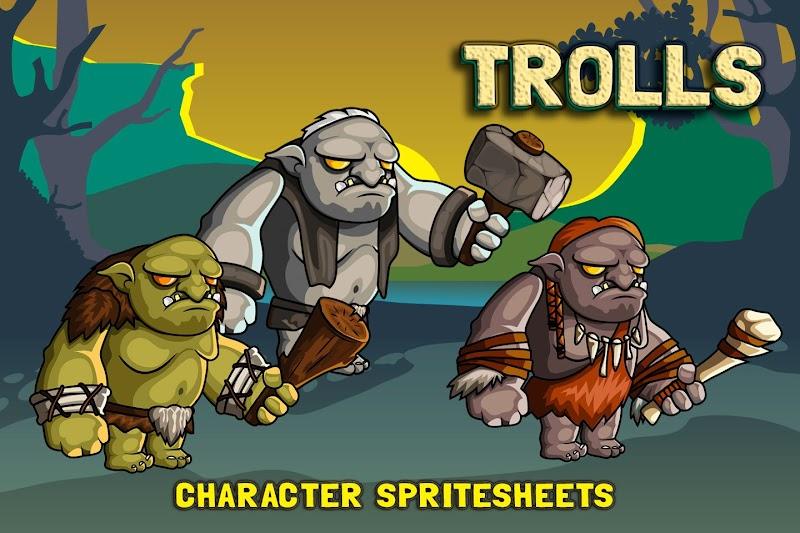 2D Oyun Yapabilmek için Troll Karakter Sprites