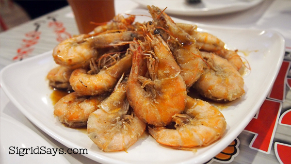 Stan's Black Pepper Shrimp at Choobi Choobi Bacolod